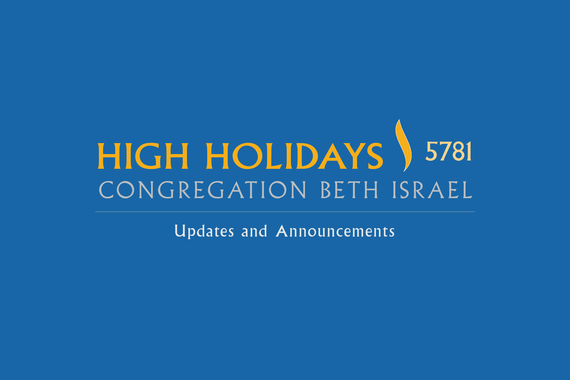 High Holidays 5781 | A Message from the CBI Clergy