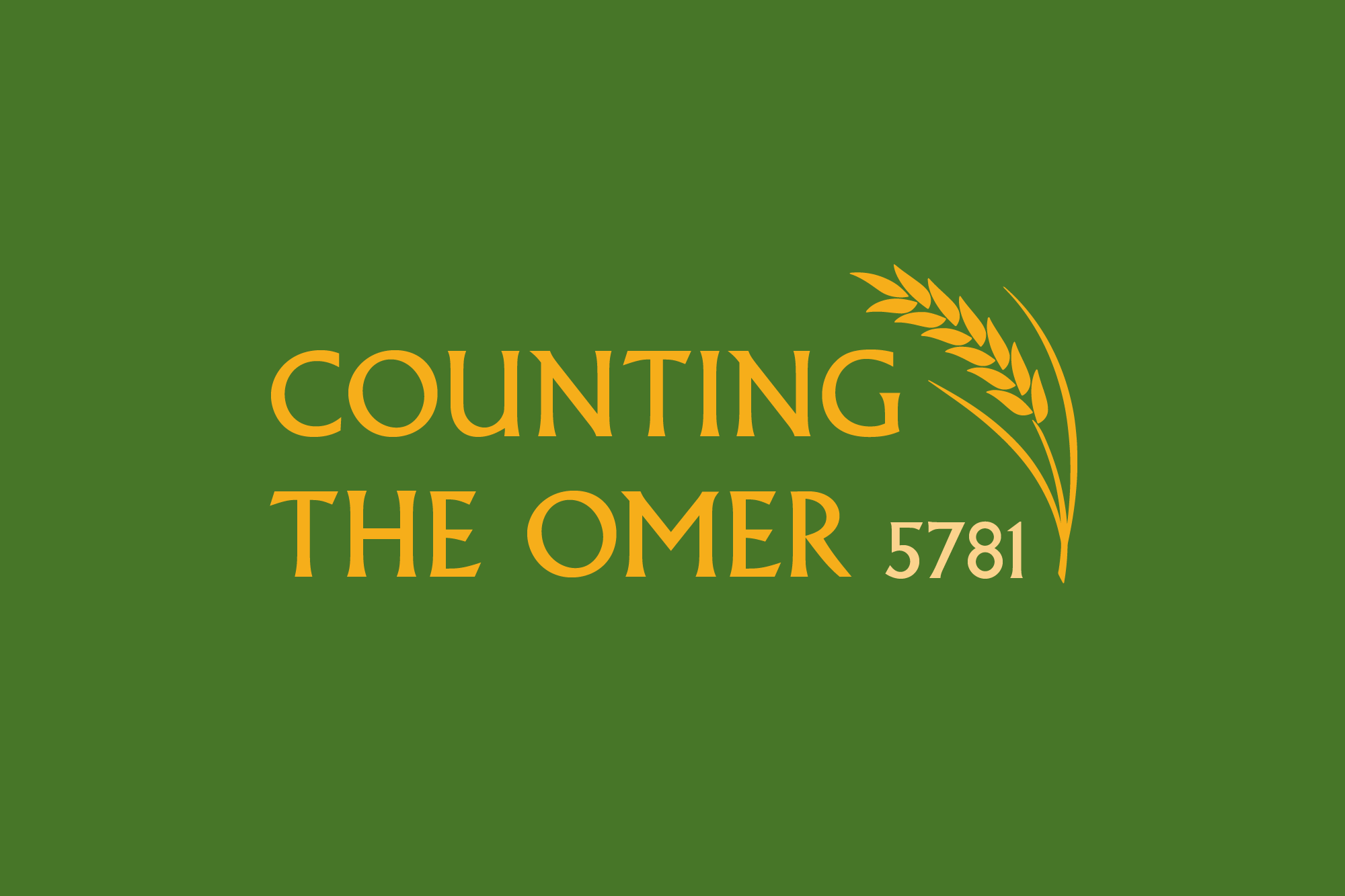 Counting the Omer 5781
