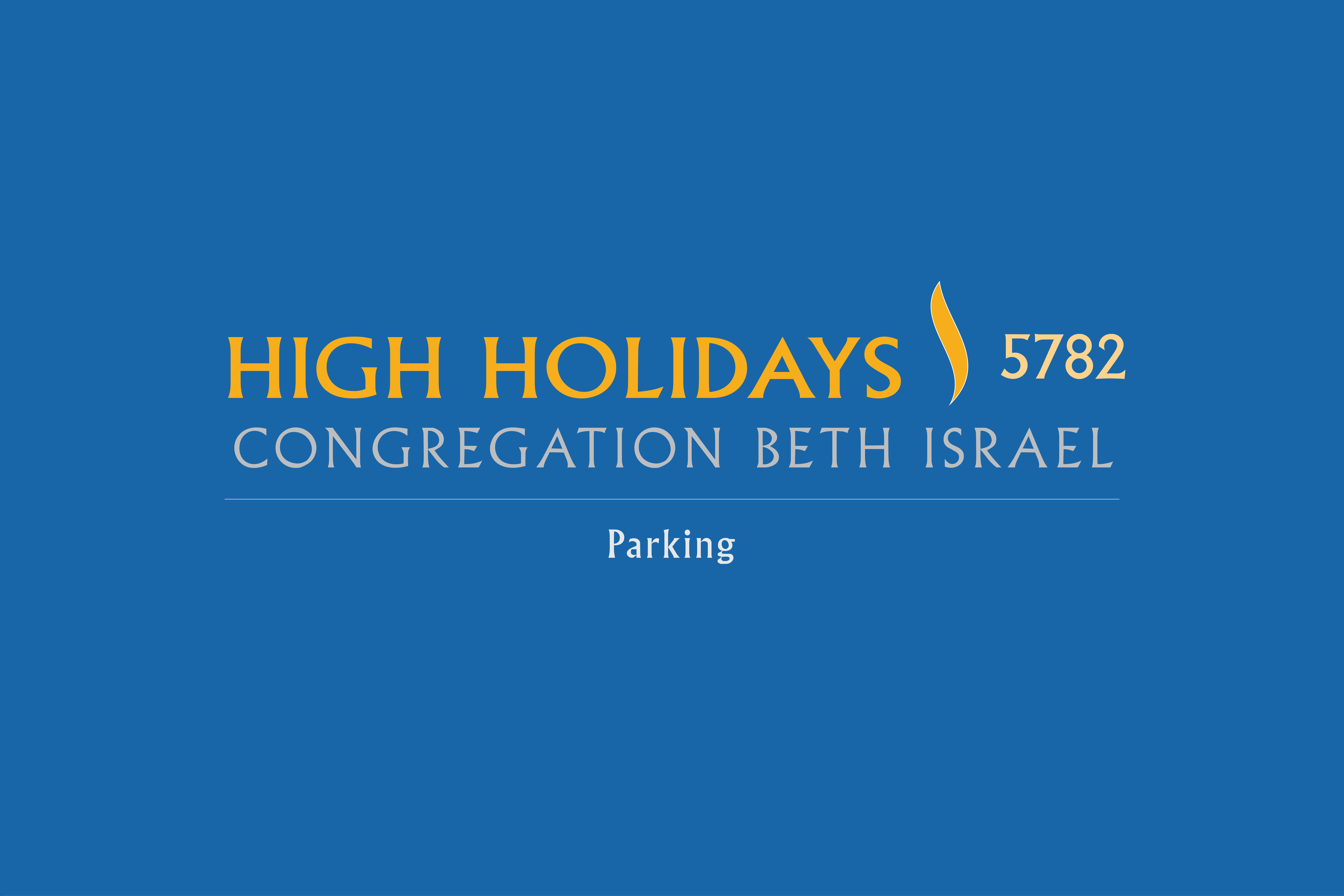 High Holidays Parking